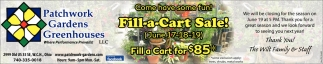 Fill a Cart Sale!