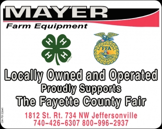 Proudly Supports The Fayette county Fair