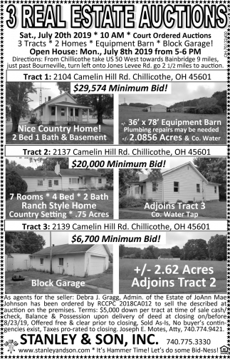 3 Real Estate Auctions
