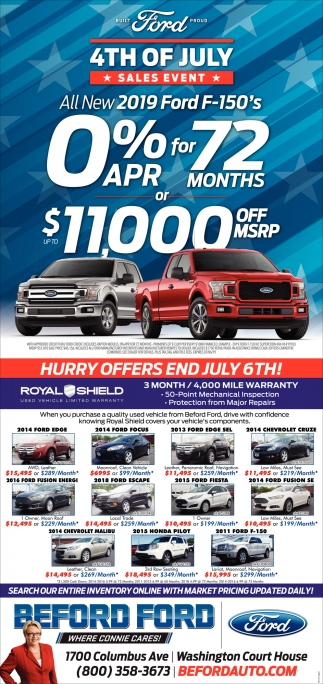 4th of July - Sales Event