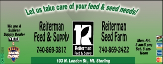Let us take care of your feed & seed needs!