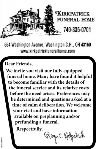 Preplanning and/or prefunding funeral