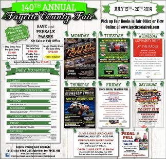 140th Annual Fayette County Fair