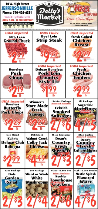 Detty's Meat Sale
