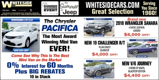 The Chrysler Pacifica ~ The Most Award Winning Mini Van Ever!