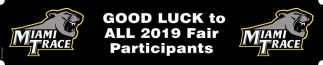 Good Luck to All 2019 Fair Participants