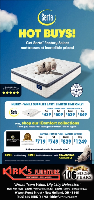 Get Serta - Factory Select mattresses at incredible prices!