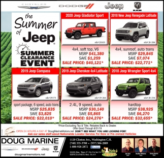 the Summer of Jeep - Summer Clearance Event