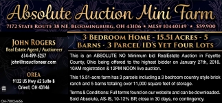 Absolute Auction Mini Farm