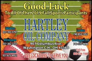 Good Luck To All Of The 2019 Fall sports Participants