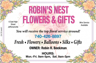 You will receive the top floral service around!