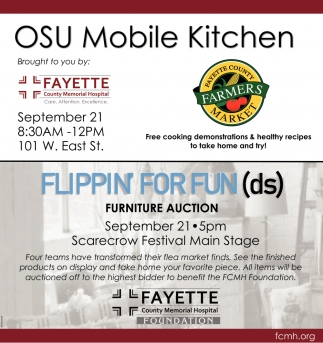 Flippin for Fund (ds) - Furniture Auction | OSU Mobile Kitchen