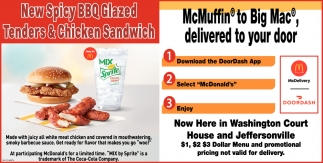 New Spicy Glazed Tenders & Chicken Sandwich
