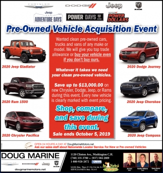 Pre-Owned Vehicle Acquisition Event