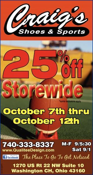 25% off - Storewide