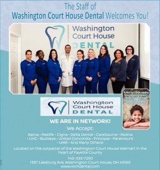 The Staff of Washington Court House Dental Welcomes You!