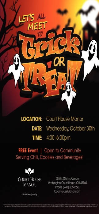 Let's all Meet to Trick or Treat