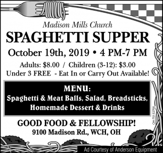 Spaghetti Super - October 19th