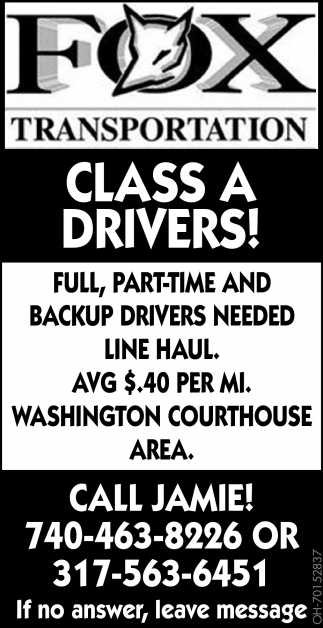Class A Drivers!