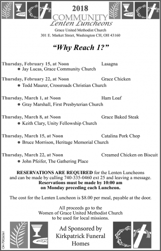 2018 Community Lenten Luncheons