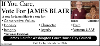 James Blair for Washington Cort House City Council