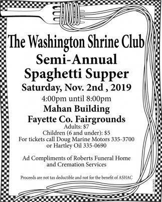 Semi-Annual Spaghetti Supper