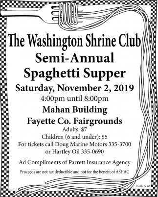 Semi-Annual Spaghetti Supper