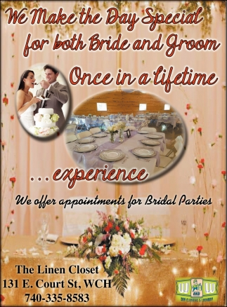 We offer appointments for Bridal Parties