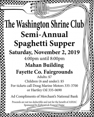 Semi-Annual Spaghetti Supper - November 2