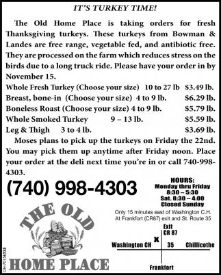 Ir's Turkey Time!