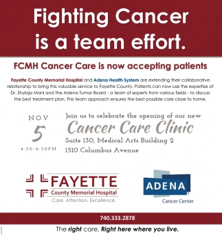 Fighting Cancer is a team effort