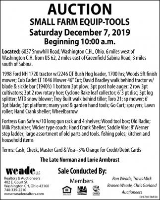 Auction - December 7