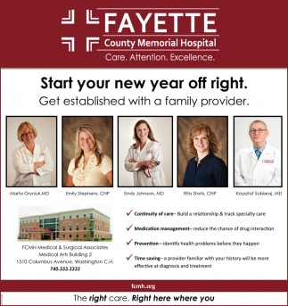 Start your new year off right. Get established with a family provider