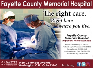 The right care. Right here where you live