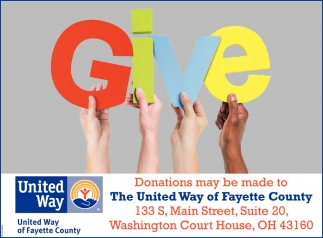 Donations may be made to The United Way of Fayette County