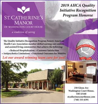 2019 AHCA Quality Initiative Recognition Program Honoree