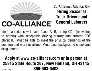 Truck Drivers adn General Laborers