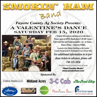 Proceeds to benefit Fayette County Ag Society