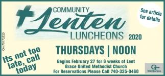 Community Lenten Luncheons