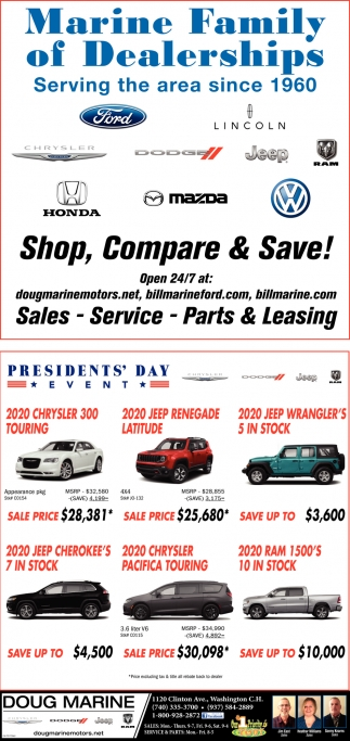 Marine Family of Dealerships Serving the area since 1960