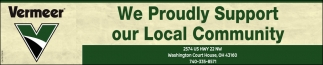We Proudly Support our Local Community