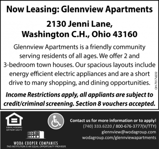 Now Leasing: Glennview Apartments
