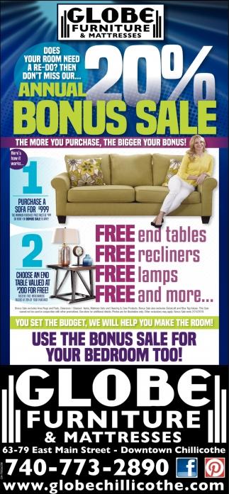 Annual 20% Bonus Sale