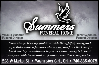 Vanessa Summer, Terry Summers Funeral Directors