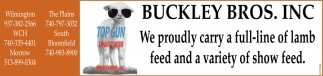 We proudly carry a full-line of lamb feed and a variety of show feed