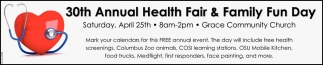 30th Annual Health Fair & Family Fun Day