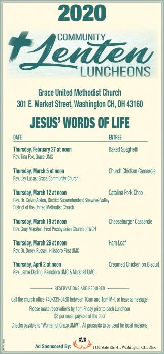 2020 Community Lenten Luncheons