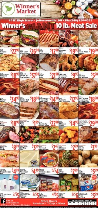 Winner's Giant 10 lb. Meat Sale