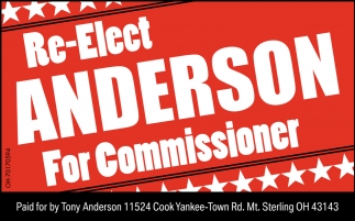 Re-Elect Anderson For Commisioner