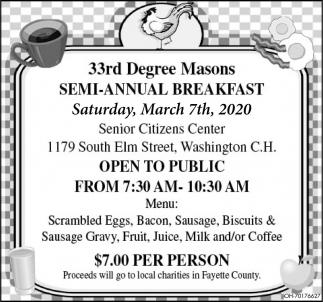 Semi - Annual Breakfast - March 7th